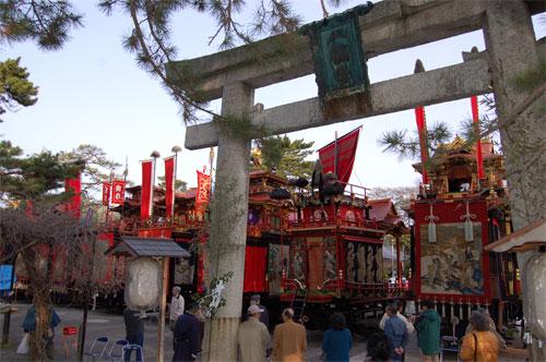 2007曳山まつりの朝