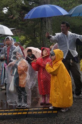 雨の中のシャギリ